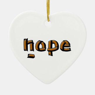 Nope Ceramic Heart Decoration