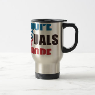 NOPE EQUALS HOPE TRAVEL MUG