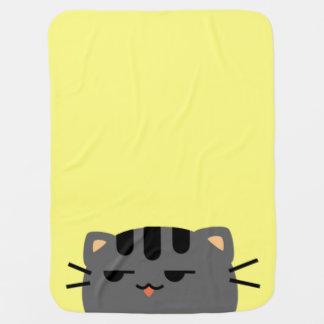 Nope Kitty Receiving Blankets