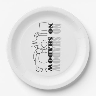 Nope...No Shadow! Groundhog Day Party Paper Plate 9 Inch Paper Plate