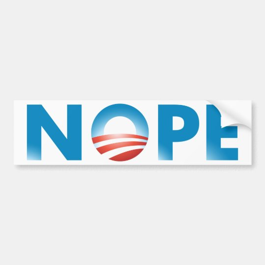 NOPE NO WAY BUMPER STICKER