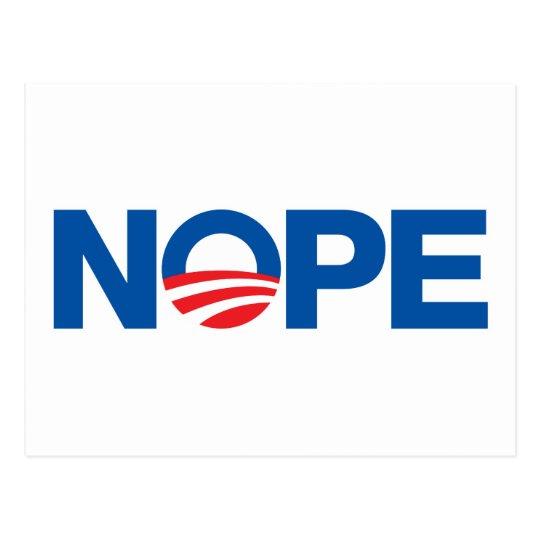 Nope Obama Postcard