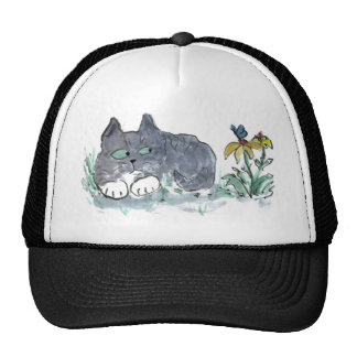 Nora, Gray Tiger, Encounters a Blue Butterfly Cap
