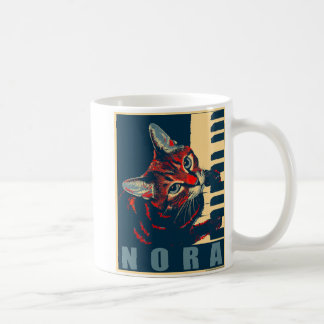Nora The Piano Cat - Posterised Coffee Mug
