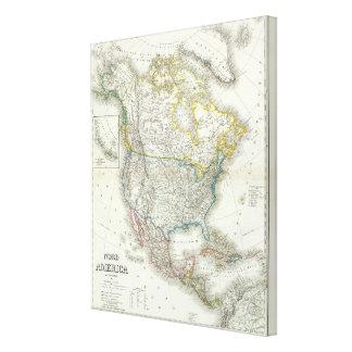 Nord America - North America Gallery Wrap Canvas