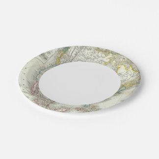 Nord America - North America Paper Plate