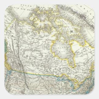 Nord America - North America Square Sticker