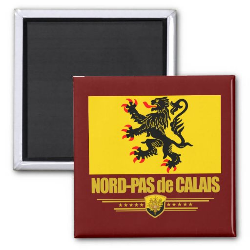 nord pas de calais square magnet zazzle. Black Bedroom Furniture Sets. Home Design Ideas