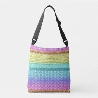Nordic Boho Bohemian Tribal Rainbow Unique Aztec Crossbody Bag
