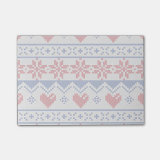 Nordic Christmas in Red & Blue Post-it Notes