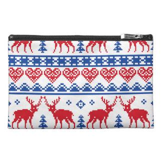 Nordic Christmas Reindeer Pattern Travel Accessories Bags