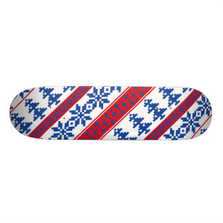 Nordic Christmas Trees Skate Board Deck