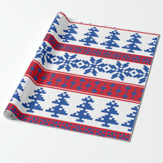 Nordic Christmas Trees Wrapping Paper