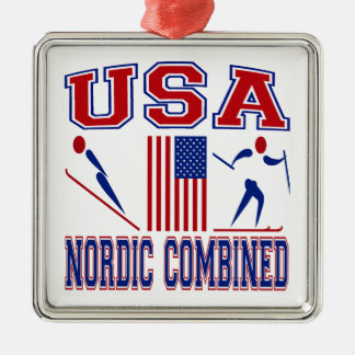 Nordic Combined United States Christmas Ornament