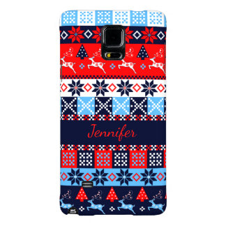Nordic folk Seasonal pattern with custom Name Galaxy Note 4 Case