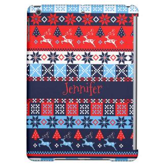 Nordic folk Seasonal pattern with custom Name iPad Air Case