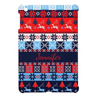 Nordic folk Seasonal pattern with custom Name iPad Mini Covers