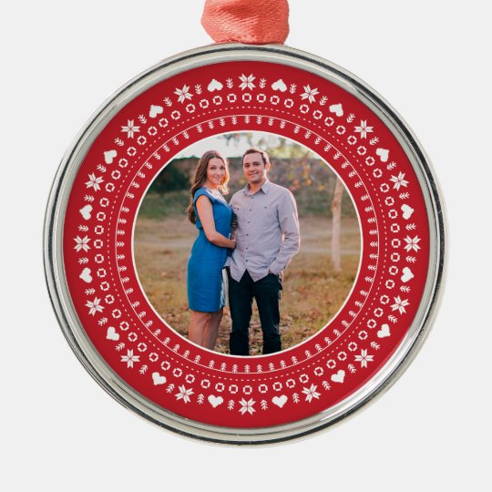 Nordic Holiday Photo Ornament
