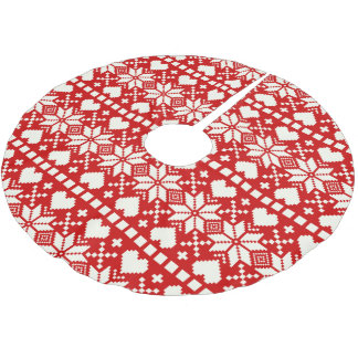 Nordic | Holiday Tree Skirt Brushed Polyester Tree Skirt