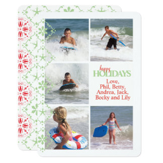 Nordic Pattern Double Sided Multi Photo Card