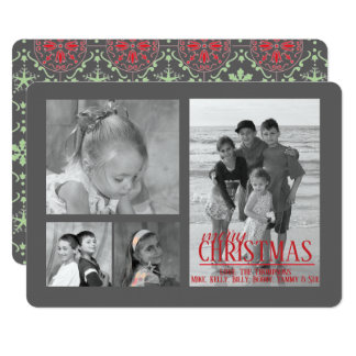 Nordic Pattern Holiday Multi Photo in grey Card