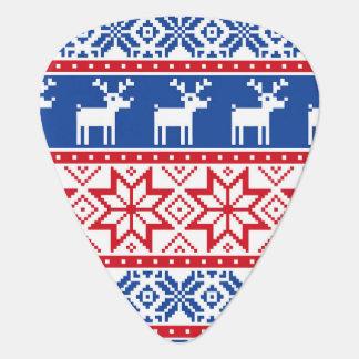 Nordic Reindeer and Snowflakes Plectrum