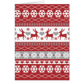 Nordic Reindeer Christmas Folded Holiday Card