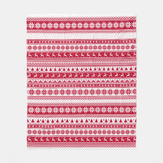 Nordic - Scandinavian Christmas Fleece Blanket