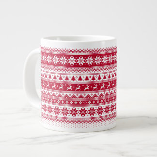 Nordic - Scandinavian Christmas Jumbo MugV2 Large Coffee Mug