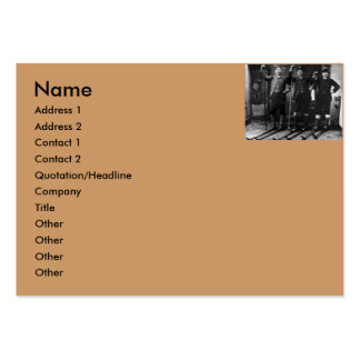 Nordic Ski Club - Vintage Business Card Template