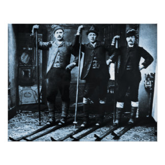 Nordic Ski Club - Vintage Poster