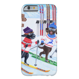 Nordic Skiing Labradors Painting Barely There iPhone 6 Case