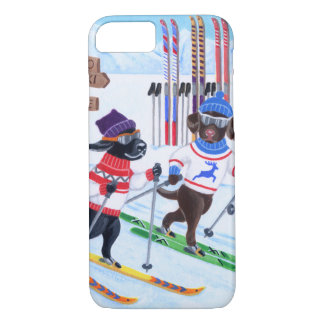 Nordic Skiing Labradors Painting iPhone 8/7 Case