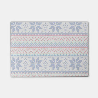 Nordic Snowflakes Christmas Pattern Post-it Notes