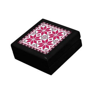 Nordic Star Giftbox (red & black) Small Square Gift Box