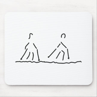 nordic walking fitness sport mouse pad