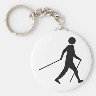 nordic walking icon key ring