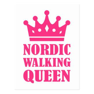 Nordic Walking queen Postcard
