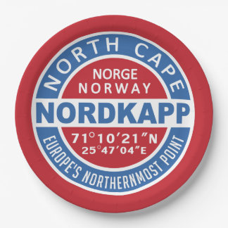 NORDKAPP Norway paper plates