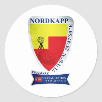Nordkapp. Norway Special Edition Classic Round Sticker