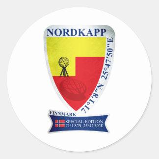 Nordkapp. Norway Special Edition Round Sticker