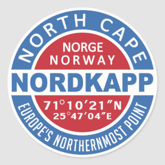 NORDKAPP Norway stickers