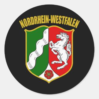 Nordrhein-Westfalen COA Round Sticker