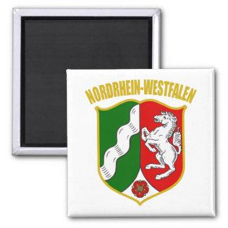 Nordrhein-Westfalen COA Square Magnet