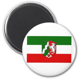 Nordrhein-Westfalen Flag 6 Cm Round Magnet