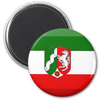 Nordrhein-Westfalen Flag Gem 6 Cm Round Magnet