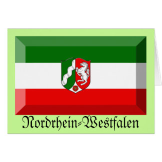 Nordrhein-Westfalen Flag Gem Greeting Cards