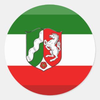 Nordrhein-Westfalen Flag Gem Classic Round Sticker