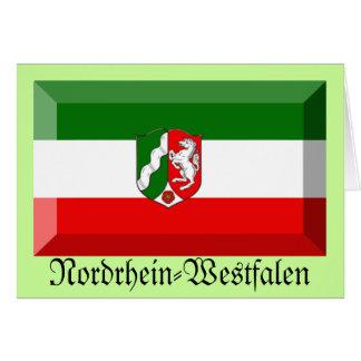 Nordrhein-Westfalen Flag Gem Greeting Card