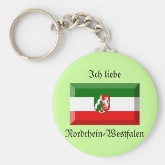 Nordrhein-Westfalen Flag Gem Key Chains